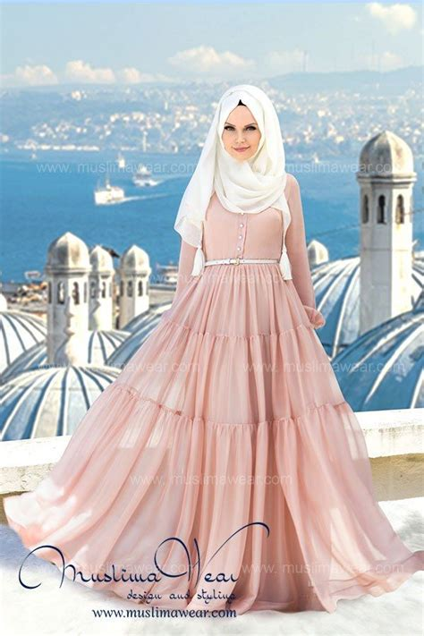 Maxi Soft Pink Maxmara Dress Muslim Elegan muslima wear with floral polka dot print
