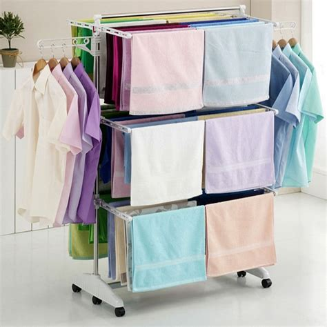 indoor clothes drying rack hanger drying rack clothes laundry folding dryer indoor stainless steel large ebay