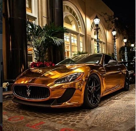 gold maserati car gold chrome maserati granturismo speed 300 km h 186