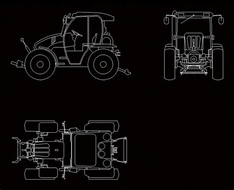 tractor mounty  dwg plan  autocad designs cad