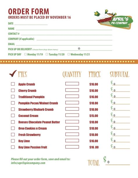 south hill design order form part 2 of a custom menu order form we created for