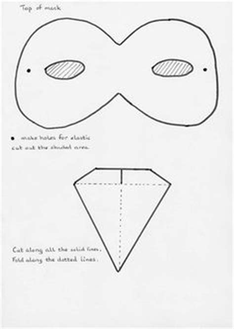 How To Make A Duck Beak Out Of Paper - color and cut this printable bird mask for a