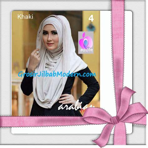 Jilbab Instan Hoodie Arabian jilbab hoodie instan arabian seri 2 by apple brand no 4 khaki grosir jilbab modern