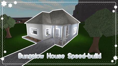 dj house bungalow house youtube bloxburg bungalow house speed build youtube
