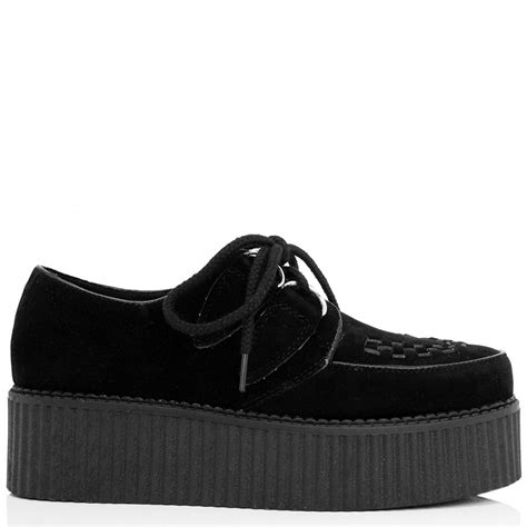 Platform Shoes by Black Suede Style Creeper Shoes Buy Black Suede Style