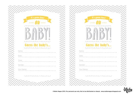 baby food guessing template best photos of baby guessing free printable baby