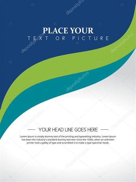 design your cover page beautiful abstract flyer design cover page design