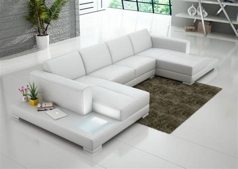 White Microfiber Double Chaise Sectional Sofa Large Ideas White Microfiber Sectional Sofa