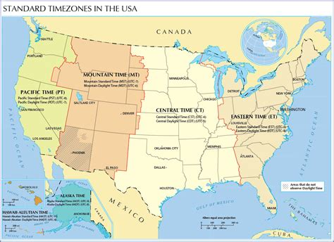 usa time zone with map time zone map of the united states nations project