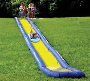 Backyard Water Slides Kids The World S Longest Backyard Water Slide Internet Vs Wallet