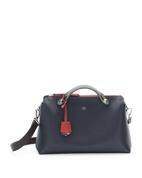 Fendis Fendi To You Large Satchel by Lyst Fendi By The Way Medium Tricolor Satchel Bag In Blue
