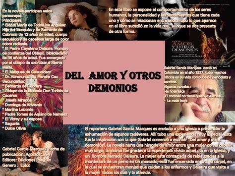 del amor y otros del amor y otros demonios