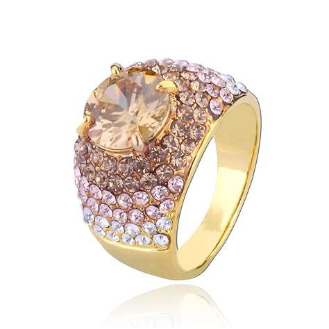 prong set cz pave dome ring fashion jewelry rings costume