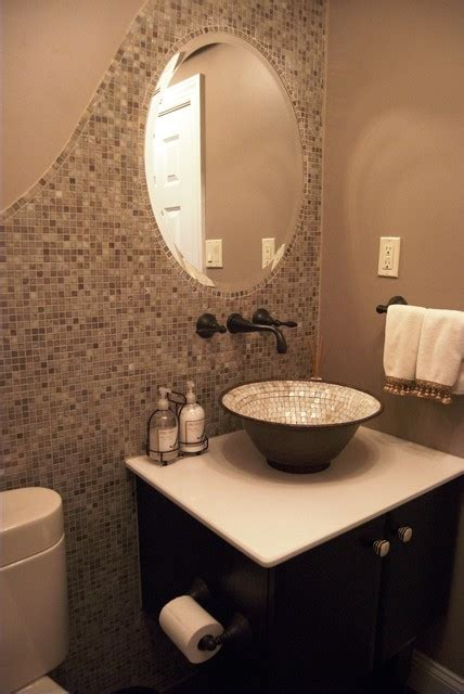 powder room tile ideas bathroom remodel transitional powder room