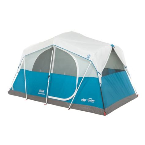 6 Person Cabin Tent by Coleman Fast Pitch Echo Lake With Cabinet Cabin Tent 6