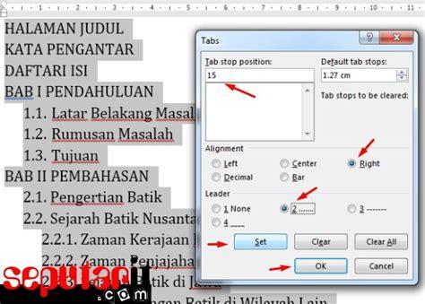 cara membuat daftar isi dan halaman di word 2010 ini dia cara membuat daftar isi secara manual di microsoft