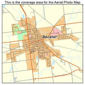 aerial photography map of decatur in indiana
