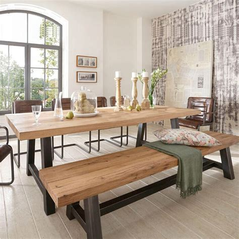 bench esszimmertisch set american country wood dining tables and chairs combination