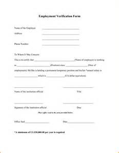 employment verification form template doc 600730 income verification form sle income