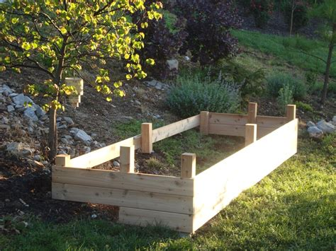 Vegetable Garden On A Slope Raised Beds On A Slope Raised Garden Bed For Steep Slope