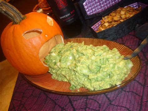 guacamole vomiting pumpkin holiday and party ideas pinterest