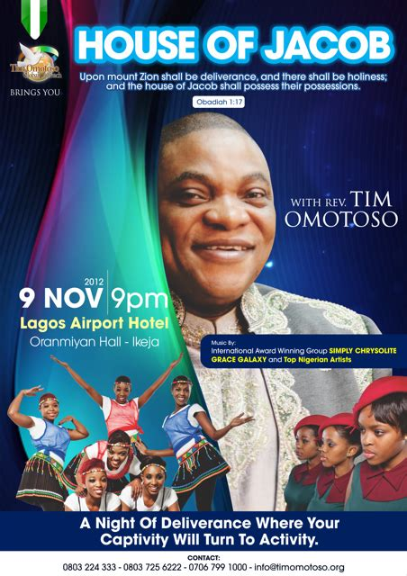 house of jacob house of jacob coming to lagos state nigeria on 9 november 2012