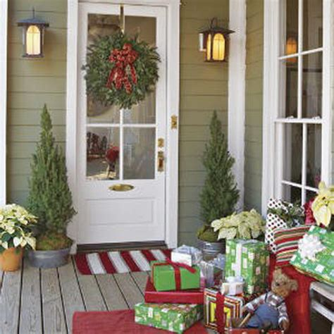 christmas front porch decorating ideas a whole bunch of christmas porch decorating ideas style