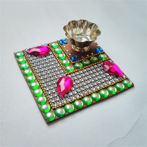 Home Decor Ideas For Diwali 9 kundan rangoli design image