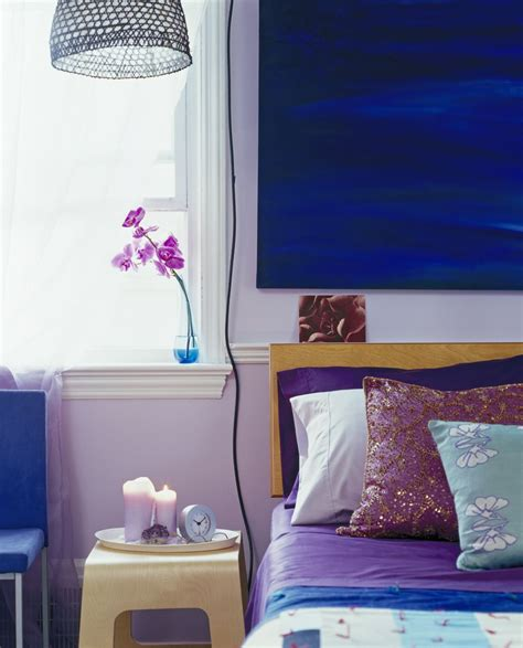 blue and purple room bold color schemes for bedrooms