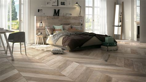 tiled bedroom wood look tile 17 distressed rustic modern ideas