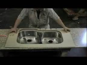 Stainless Steel Laminate Countertops - install an undermounted stainless steel sink in a laminate countertop youtube