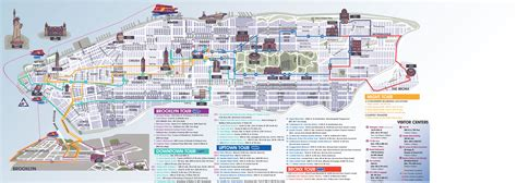 map of new york with attractions maps update 58022775 new york city map with tourist