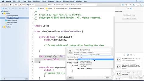 blender xcode tutorial create snippets