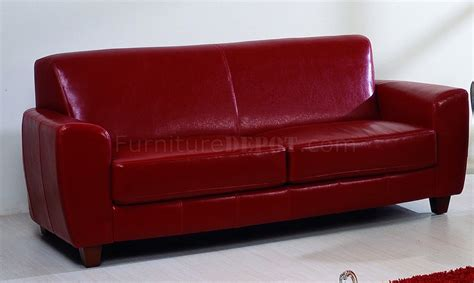 red brown leather sofa red brown or black bycast leather contemporary sofa w options