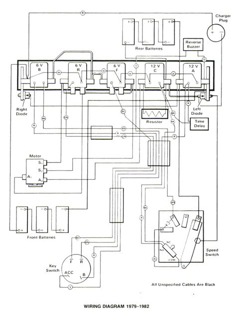 1982 club car electric wiring diagram get free image