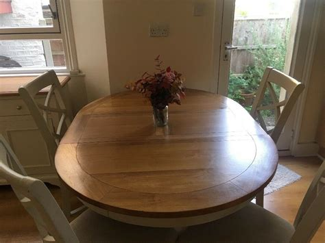solid oak top  extendable dining table  chairs  finsbury park london gumtree