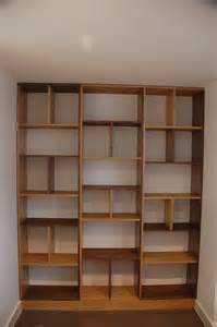 contemporary bookshelves contemporary bookcase made out of oak and walnut london