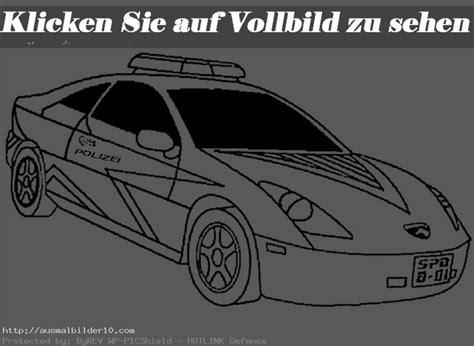 Polizeiauto Zum Malen by Autos 8 Ausmalbilder