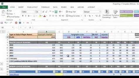 Baseball Statistics Spreadsheet by Baseball Stats Spreadsheet Excel Spreadsheets
