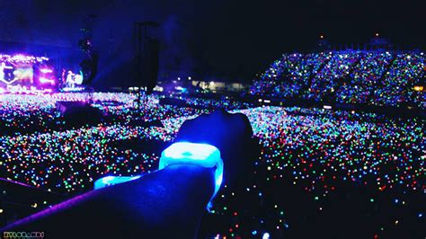 light up concert bracelets coldplay wristbands light up audiences on a of
