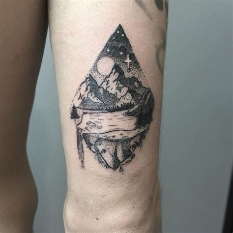 mountain scene tattoo designs mountain tattoos top mountain range and design