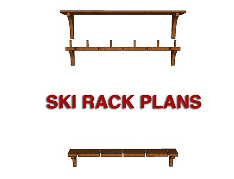Rack Plan by Diy Ski Rack Project With Free Plans