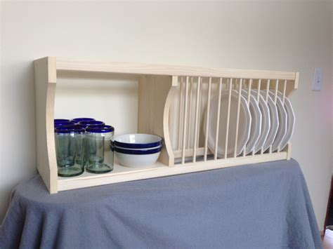 cabinet plate rack with shelf by nicoletwoodproducts
