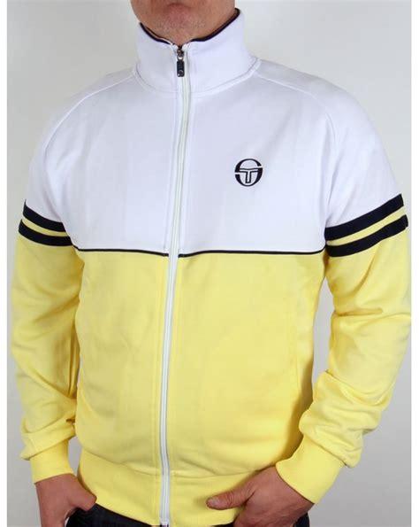 Sergio Tacchini sergio tacchini track top white yellow navy