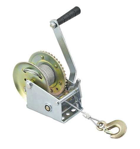 boat winch strap or cable manual trailer winch cable or webbing strap plastimo