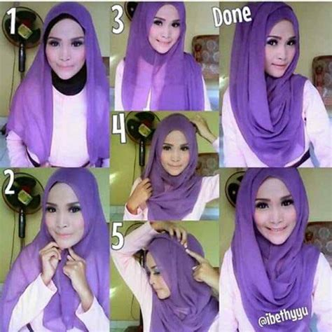 tutorial jilbab segi empat simple tutorial of hijab segi empat