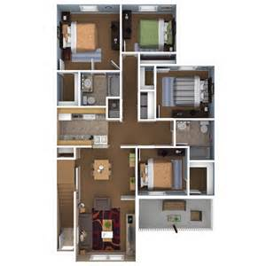 Four Bedroom Apartments by Apartments In Indianapolis Floor Plans