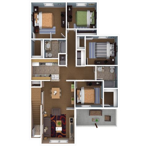 4 bedroom plan apartments in indianapolis floor plans