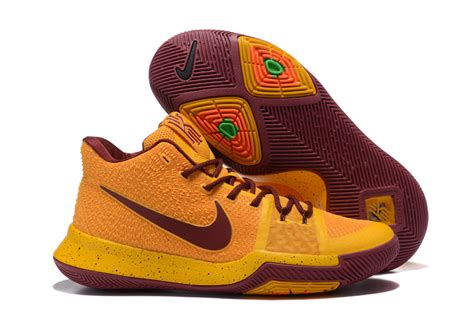 Sepatu Basket Nike Kyrie 3 Gold Medal basketball shoes nike s yellow gold wine kyrie 3 jersey
