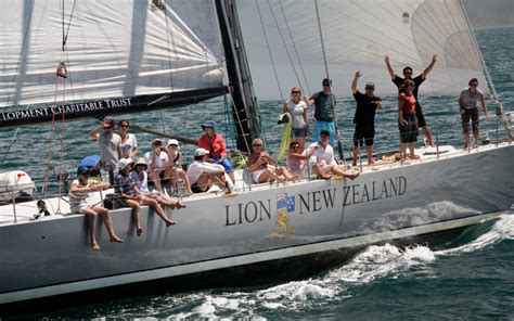 sailing boat hire new zealand lion new zealand charter boat 80ft maxi yacht decked